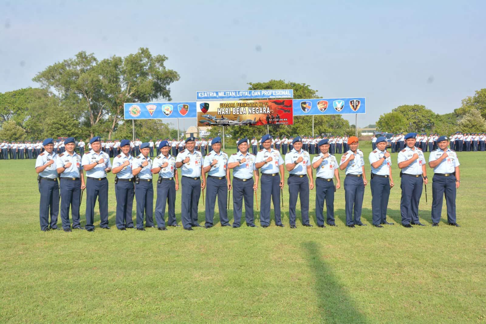 Danlanud Iswahjudi Pimpin Upacara Peringatan Ke 71 Hari Bela Negara
