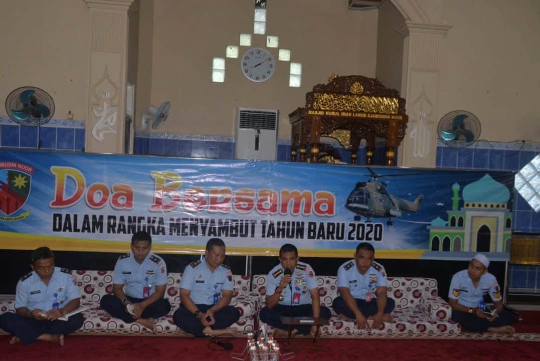 Lanud Sjamsudin Noor Laksanakan Doa Bersama Jelang Tahun Baru 2020