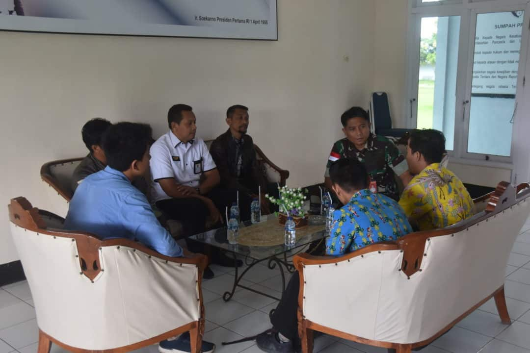 Komandan Lanud Maimun Saleh Terima Kunjungan Tim Siber Dan Sandi Negara (BSSN)