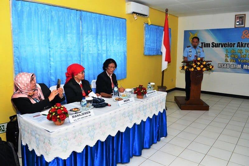 Survei Akreditasi SNARS Edisi I RSAU dr Munir Lanud Abdulrachman Saleh