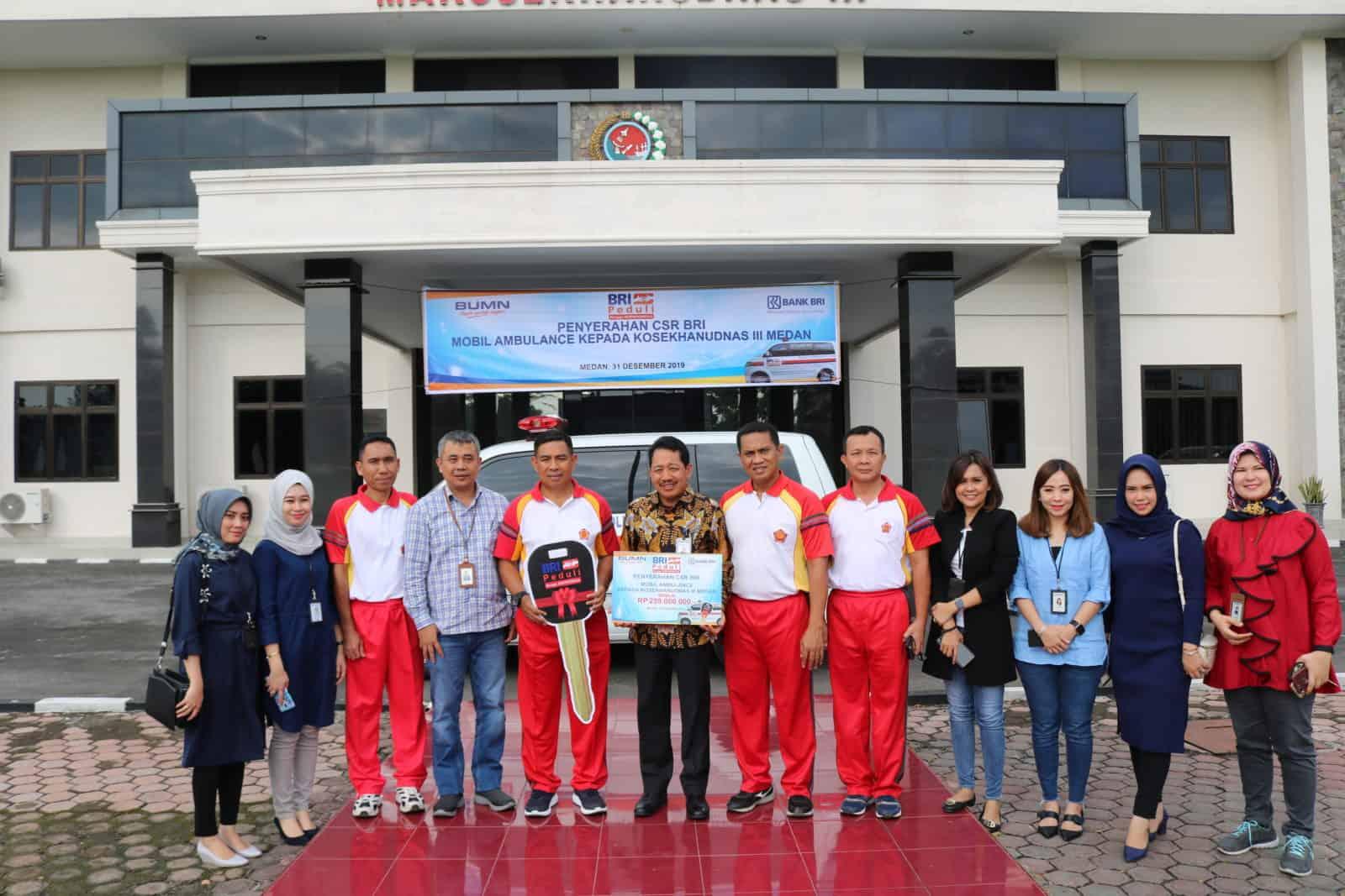 Penyerahan CSR BRI Mobil Ambulace Kepada Kosekhanudnas III