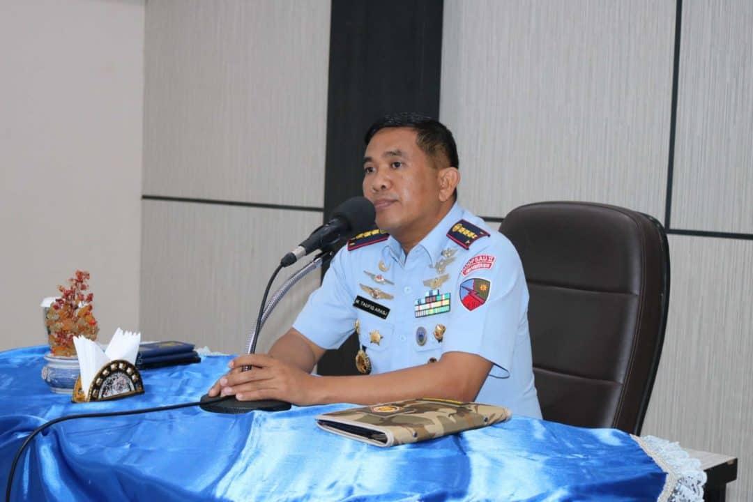 Komandan Lanud Sjamsudin Noor Laksanakan Entry Briefing