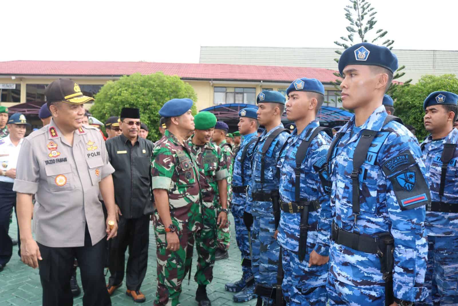 Lanud Sjamsudin Noor Ikuti Apel Gelar Pasukan Operasi Lilin Intan 2019 di Mapolda Kalimantan Selatan