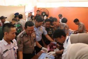 Danlanud SMH Dampingi Gubernur Sumsel dan Kabaharkam Polri Dalam Kegiatan Bakti Sosial dan kesehatan