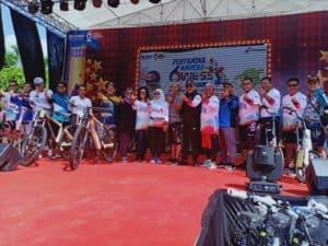 Danlanud SMH Gowes Bareng, Ramaikan HUT ke 62 Pertamina Palembang
