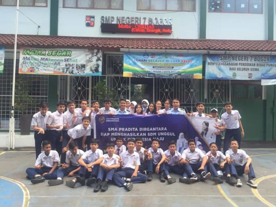 Lanud Atang Sendjaja Gelar Sosialisasi SMA Pradita Dirgantara ke Sekolah-sekolah SMP Unggulan di Bogor