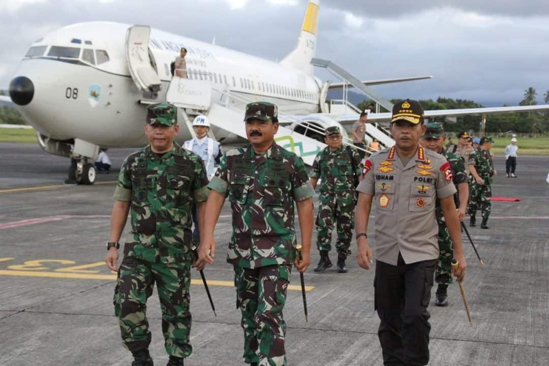KUNJUNGAN PANGLIMA TNI DAN KAPOLRI KE SULAWESI UTARA