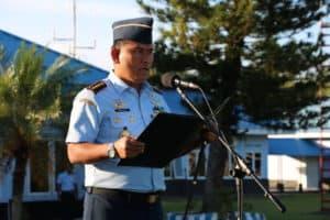 UPACARA BENDERA MINGGUAN MENJELANG AKHIR 2019 DI LANUD DHOMBER