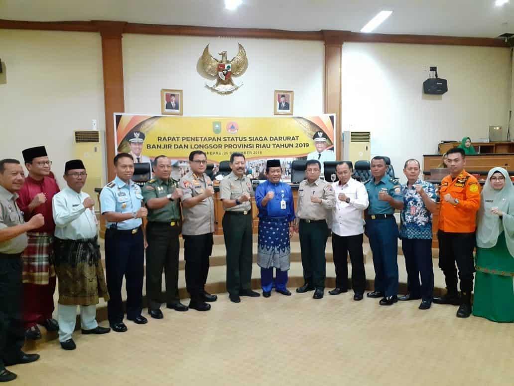 Kadisops Lanud Rsn Hadiri Rapat Penetapan Status Siaga Darurat Banjir Dan Longsor