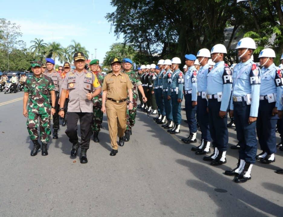 Prajurit Lanud Supadio Ikuti Apel Gelar Pasukan Operasi Lilin Kapuas 2019