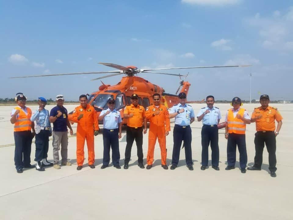 Penerbangan Pesawat Basarnas Type Helly AW-139, Dengan Call Sign HR-1301 Melaksanakan Penerbangan Konversi Navex