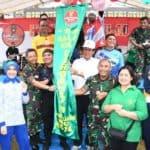 Ramaikan Acara Hari Juang TNI AD, Danlanud RHF Ikut Funbike bersama TNI Polri dan Masyarakat