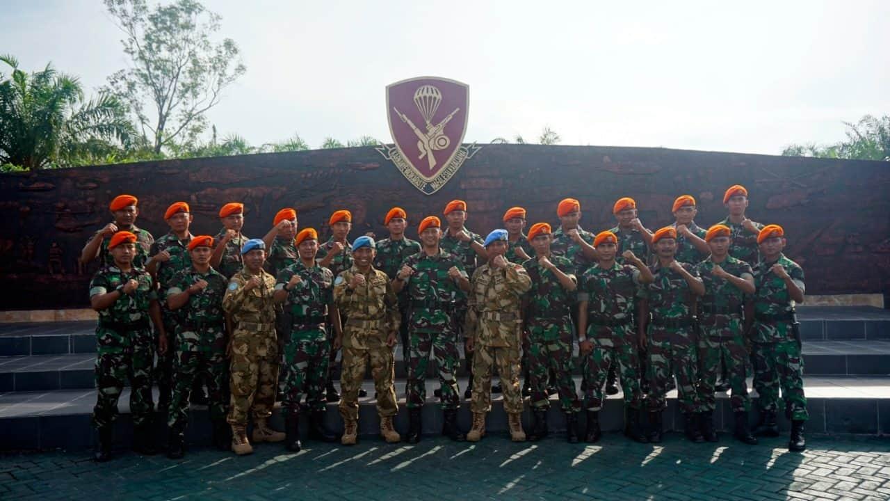 Batalyon Komando 462 Paskhas Terima Satgas MONUSCO Kongo