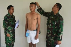 Lanud Sugiri Sukani Melaksanakan Pantukhir Tingkat Daerah Penerimaan Casis Bintara PK Gelombang I TA. 2020