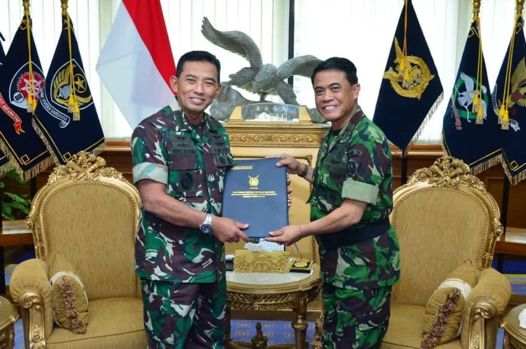 Kasau Terima Laporan Kenaikan Pangkat Pati TNI AU
