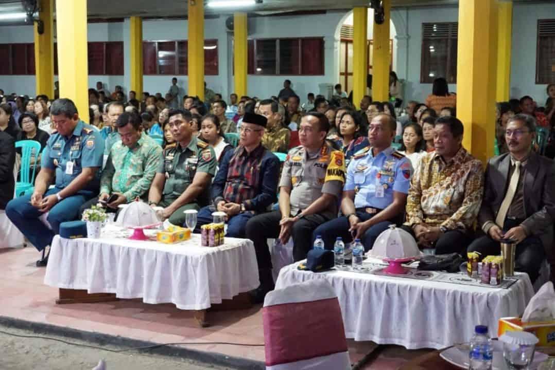 Danlanud Haluoleo Hadiri Perayaan Natal Umat Kristiani Bersama Pemda Sultra, TNI/Polri Dan Perbankan Tahun 2019.