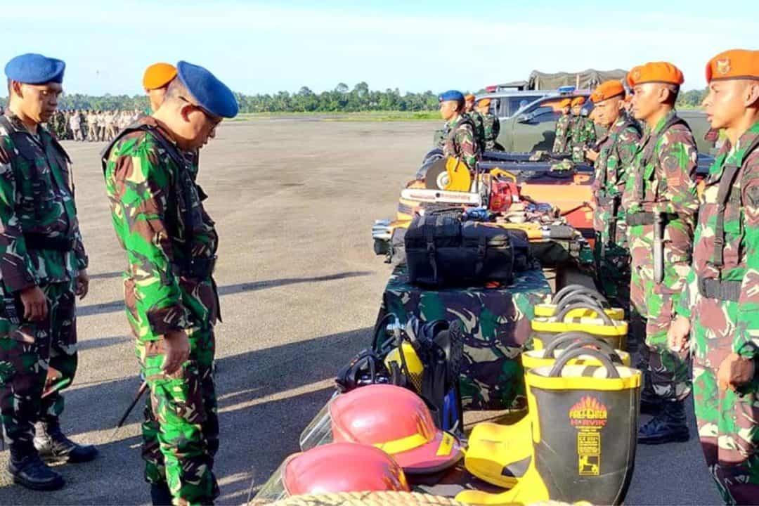 Batalyon Komando 465 Paskhas Apel Gelar Pasukan Satuan Tugas Bencana Alam