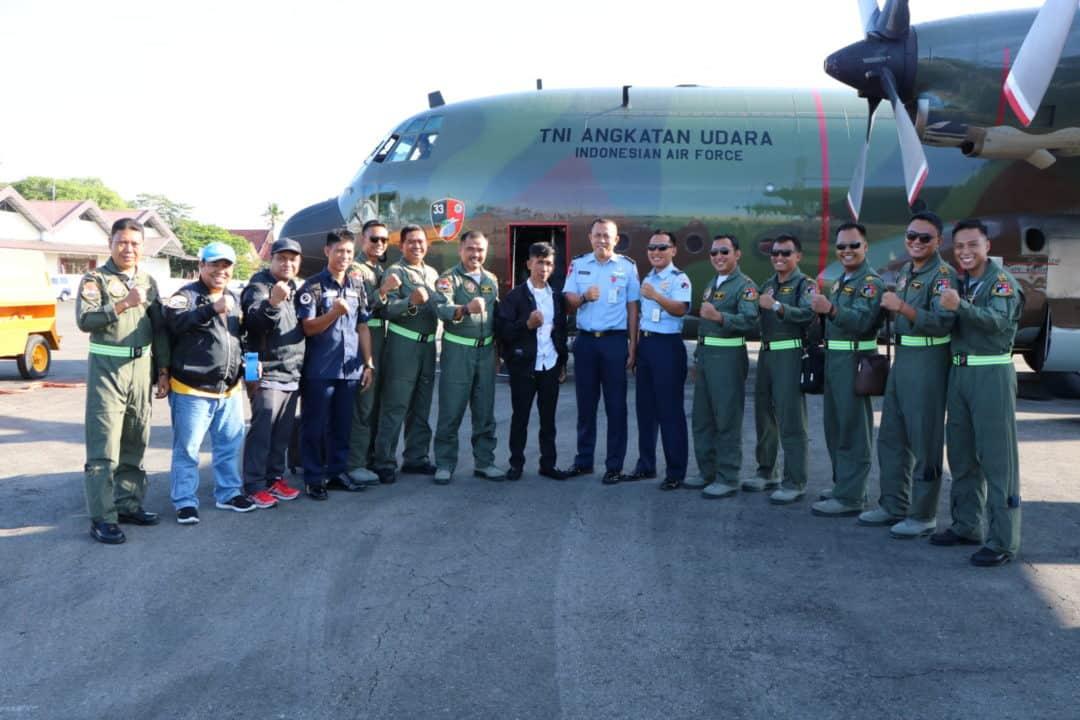 Sukses Rakit Jenis Pesawat Ultralight, Pesawat Hercules TNI AU Terbangkan Haerul ke Jakarta Temui KASAU