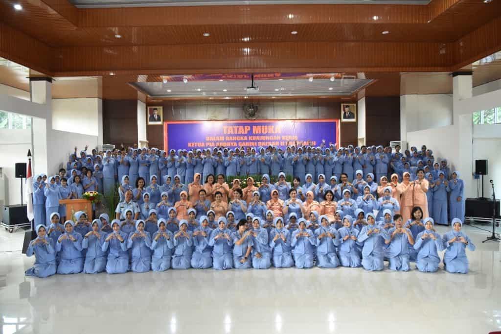 Kuker Ketua PIA AG Daerah II Koopsau II Ke Lanud Sultan Hasanuddin