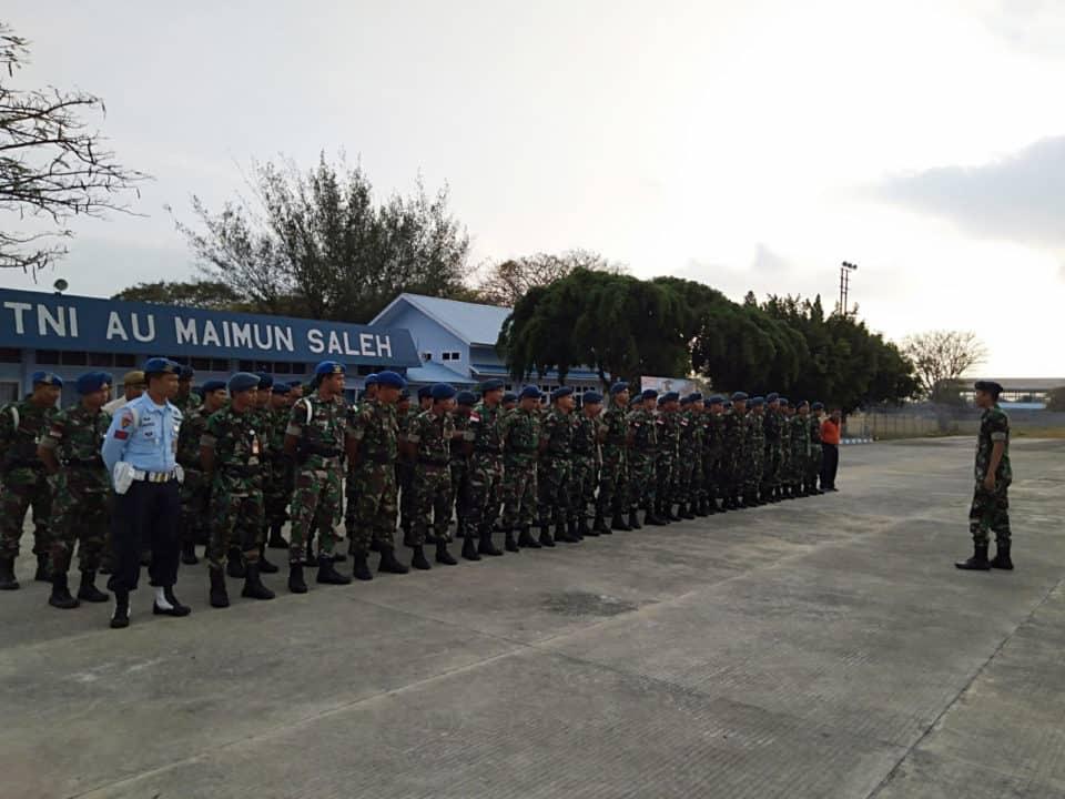 Tingkatkan Sikap Disiplin Dan Loyalitas Prajurit Lanud Maimun Saleh, Melalui Peraturan Baris – Berbaris (PBB)
