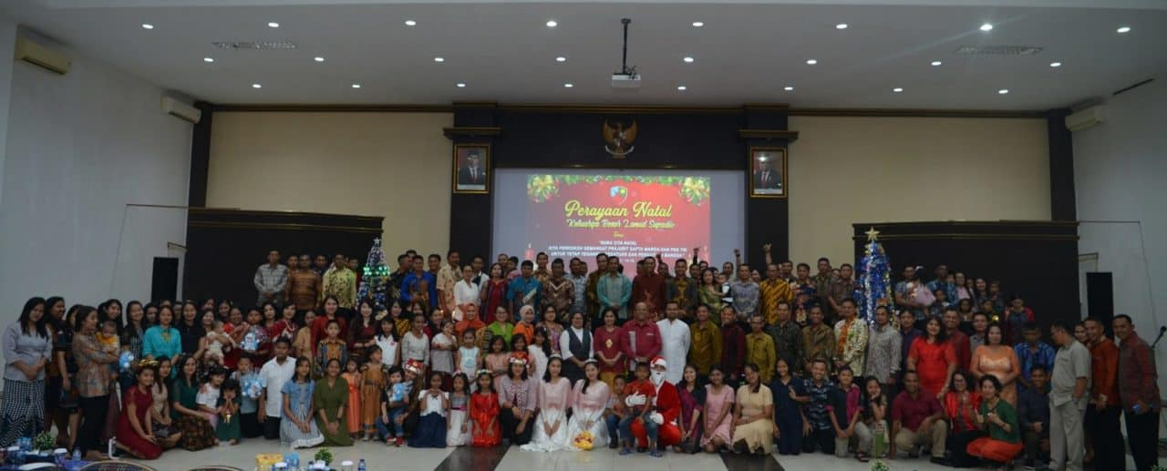 Perayaan Natal Bersama Umat Kristiani Lanud Supadio