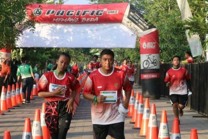 Danlanud SMH Turut Serta Sriwijaya RUN 2020