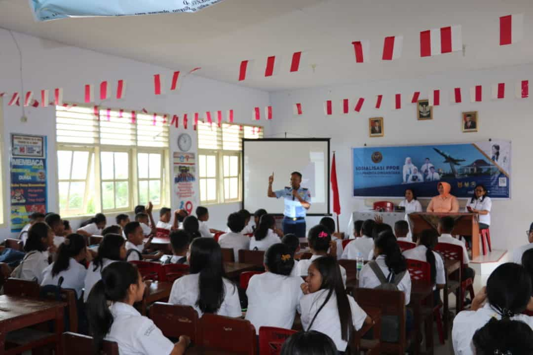 Tim PPDB SMA Pradita Dirgantara Lanud Pattimura Kunjungi SMP N 1 Ambon Sosialisasikan SMA Pradita Dirgantara