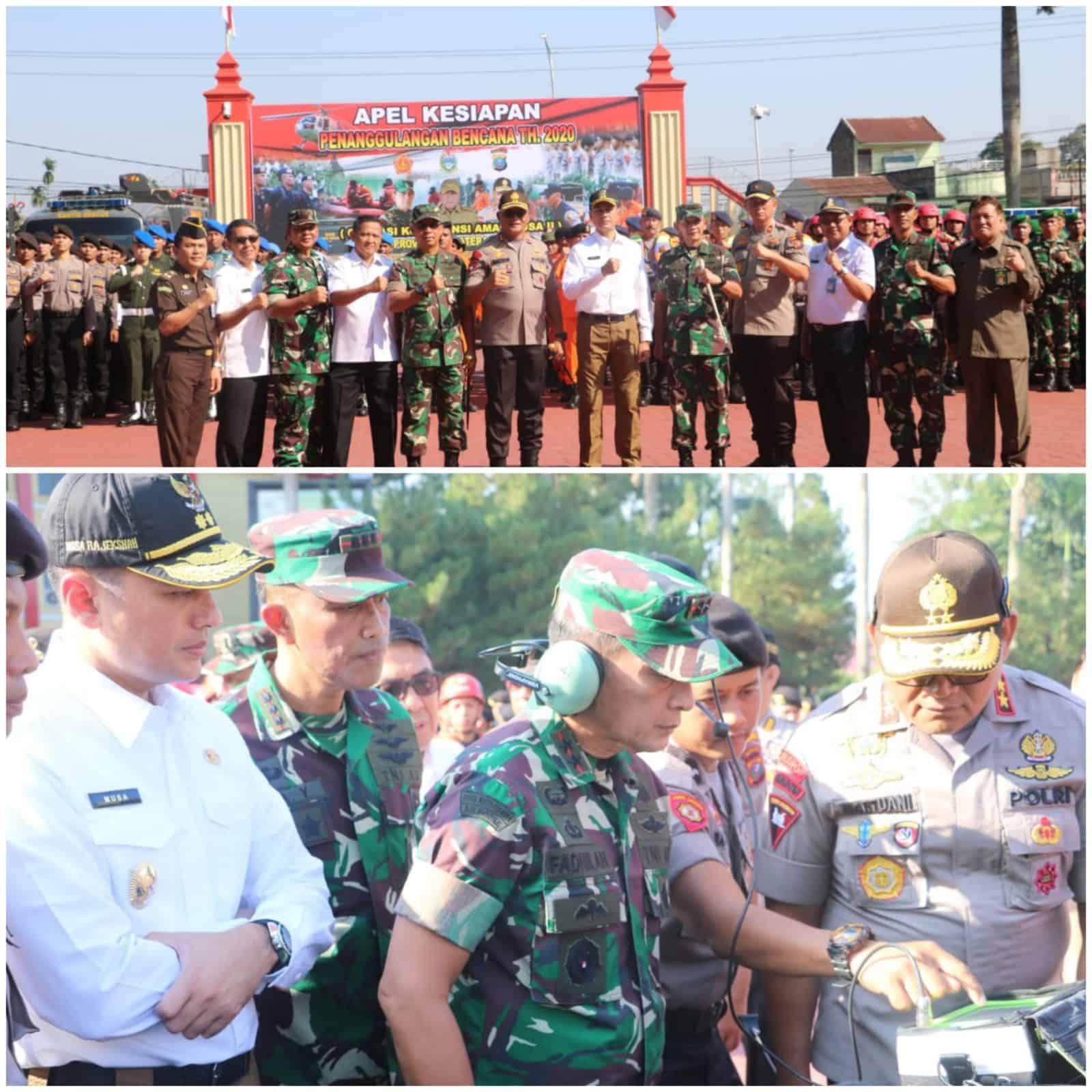 Danlanud Soewondo, Kolonel Pnb Meka Yudanto, Hadiri Apel Kesiapan Penanggulangan Bencana Tahun 2020 di Mapolda Sumut