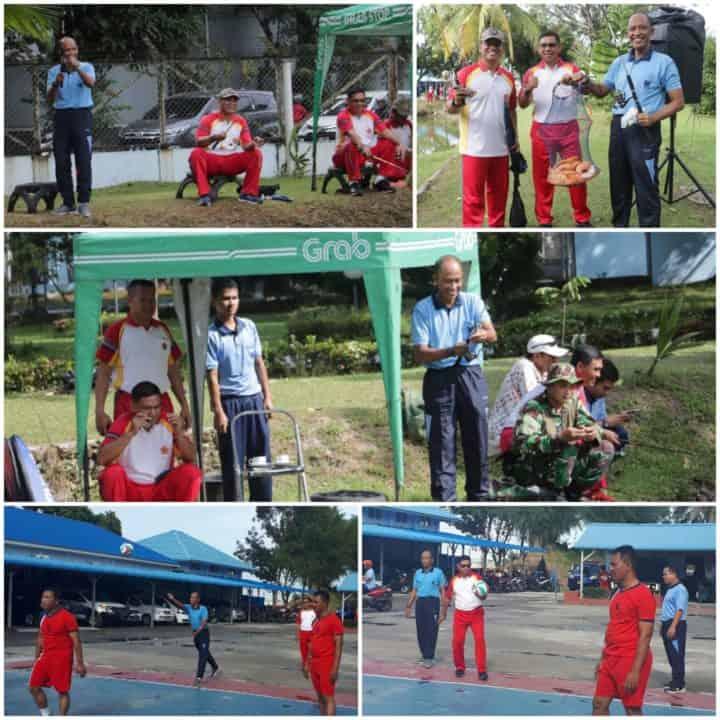 Tingkatkan Sinergitas, Soliditas dan Silaturahmi, TNI AU di Medan Gelar Mancing dan Pertandingan Bola Voli Antar Satuan