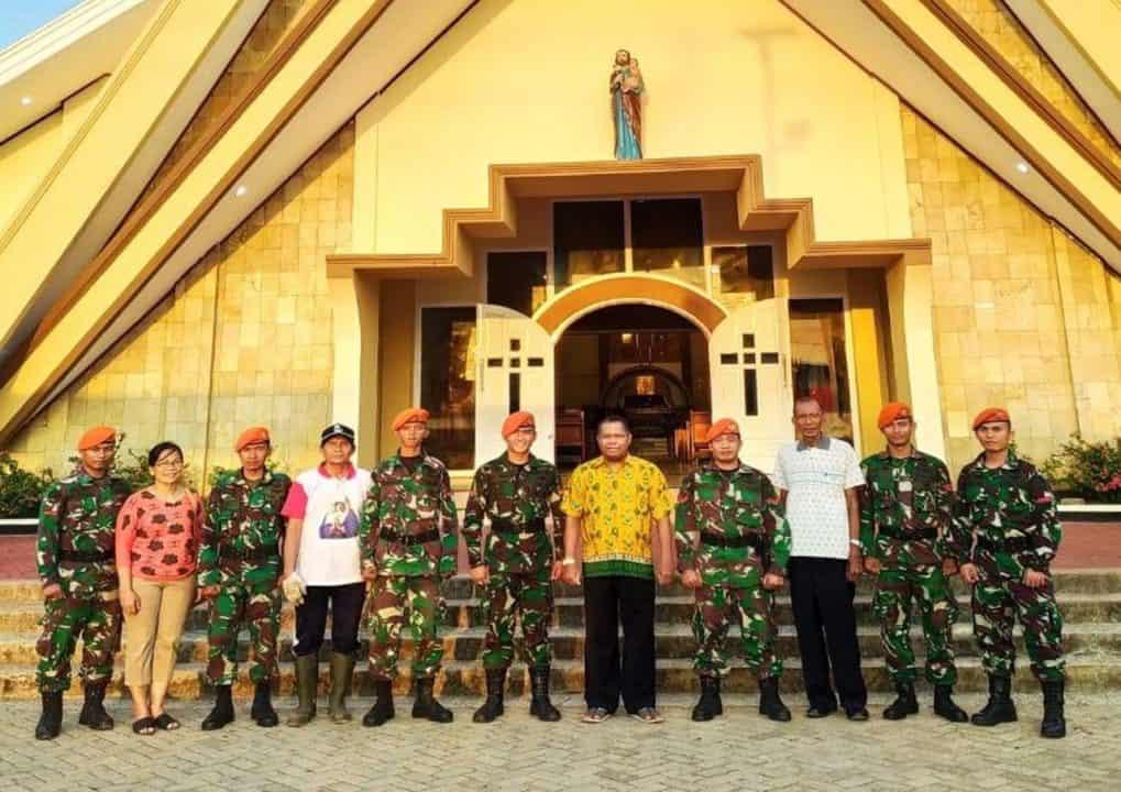 Sambut Natal Dan Tahun Baru 2020 Satgas Pamrahwan Yonko 462 Paskhas Pos Merauke Melaksanakan Karya Bhakti