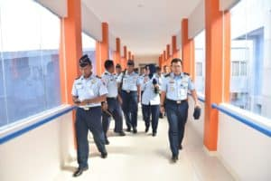 Monitoring dan Evaluasi Kadiskesau di RSAU dr Dody Sardjoto Lanud Sultan Hasanuddin