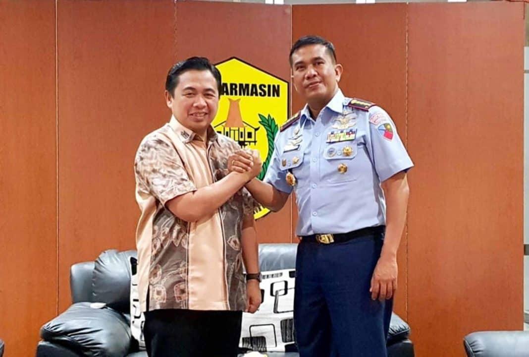 Jalin Silaturahmi Komandan Lanud Sjamsudin Noor Kunjungi Walikota Banjarmasin