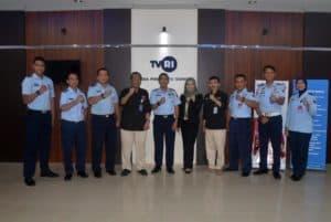 Komandan Lanud Sjamsudin Noor Sosialisasikan PPDB SMA Pradita Dirgantara Melalui Dialog Live Interactive di TVRI Kalimantan Selatan