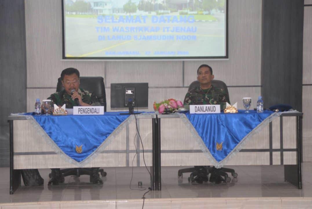 Pengawasan Dan Pemeriksaan Itjen Mabes TNI AU Di Lanud Sjamsudin Noor