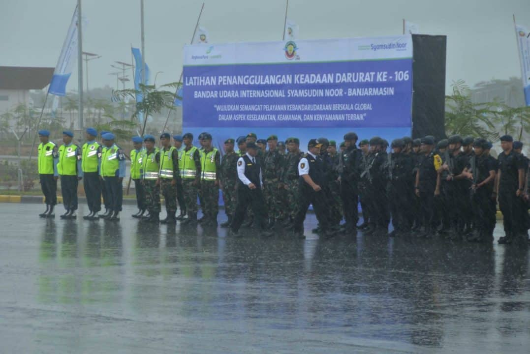Lanud Sjamsudin Noor Latihan Penanggulangan Kondisi Darurat (PKD) Bersama Bandara Syamsudin Noor Banjarmasin