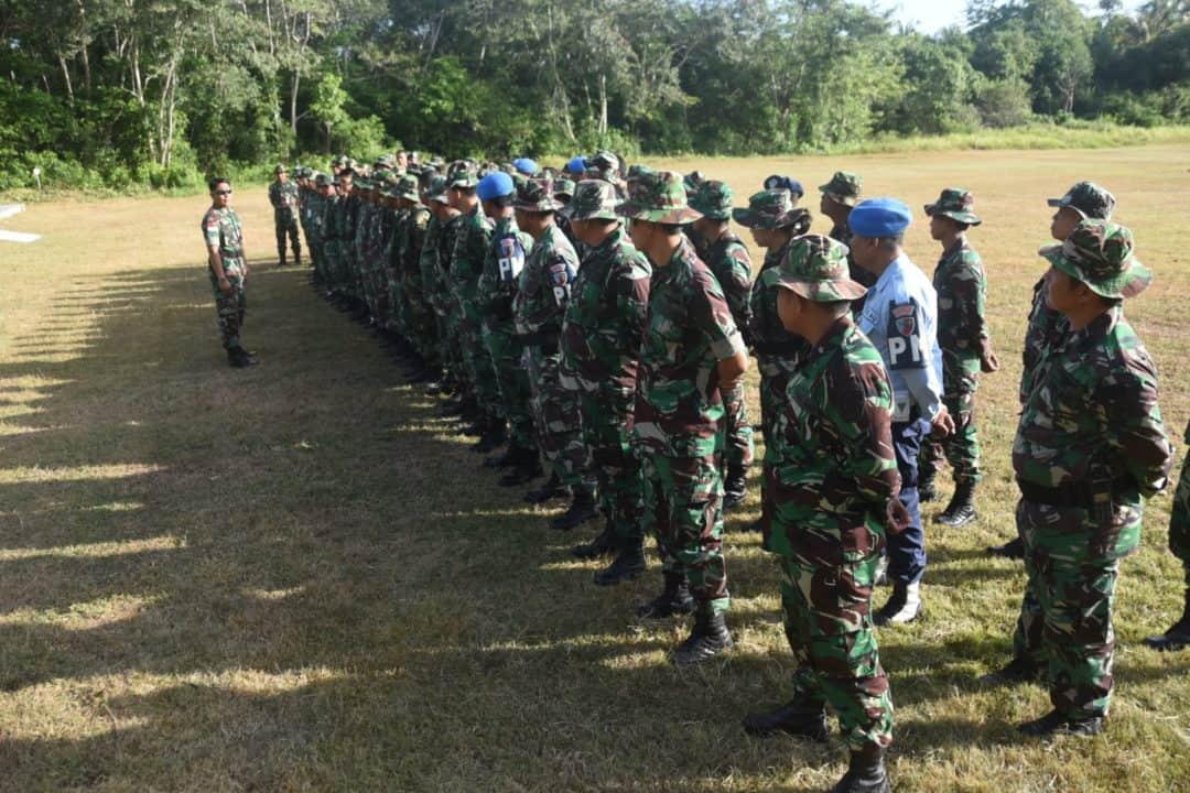 Kemampuan Menembak Harus Dimiliki Oleh Prajurit Lanud Maimun Saleh Perbatasan Ujung Barat Indonesia.