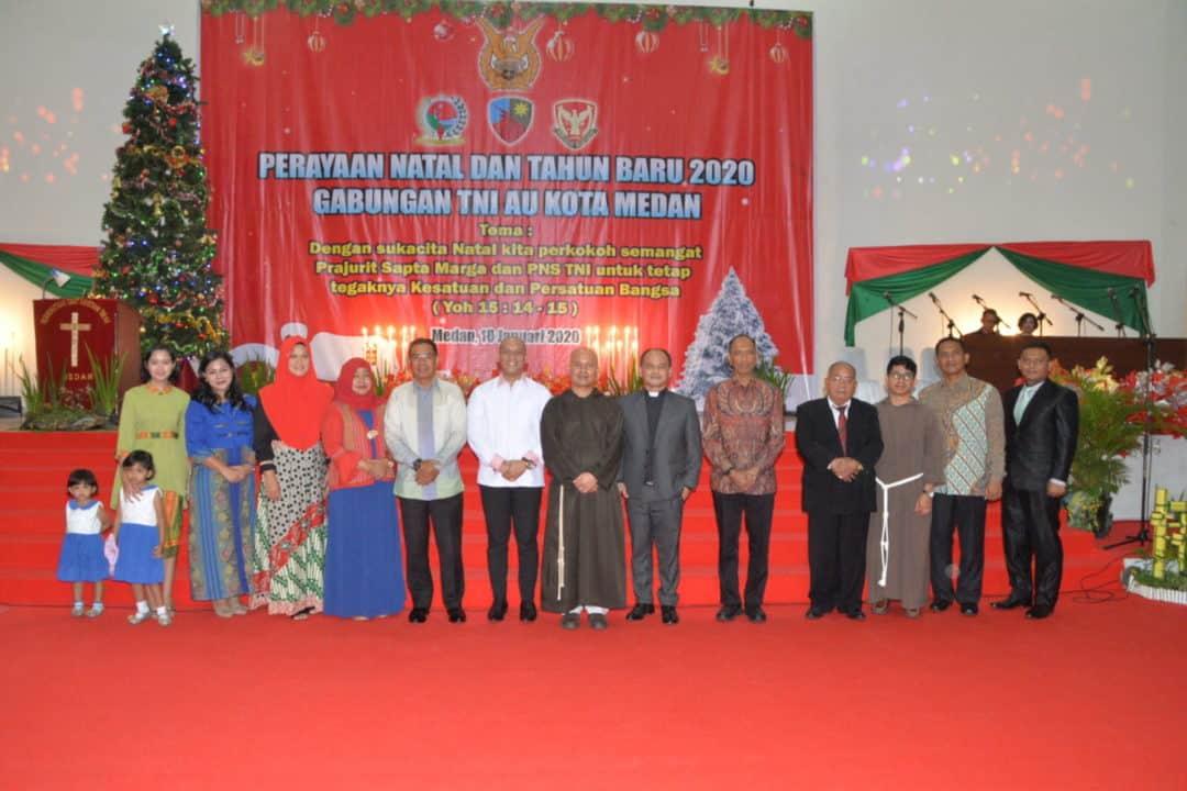 Perayaan Natal Dan Tahun Baru 2020 Gabungan TNI AU Kota Medan