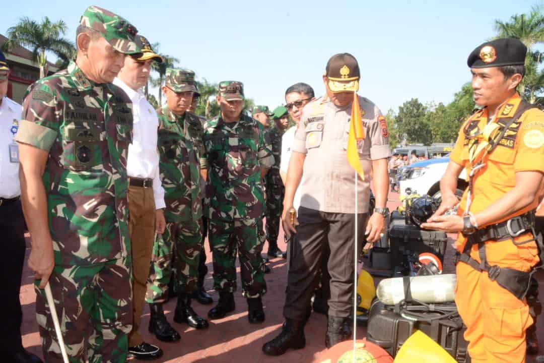 Panglima Kosekhanudnas III Menghadiri Apel Kesiapsiagaan Penanggulangan Bencana
