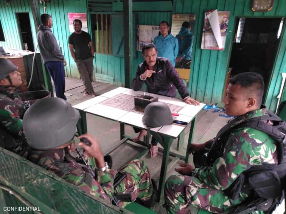 Satgas Pamrahwan Yonko 462 Paskhas Pos Ilaga Melaksanakan Kunjungan Ke Koramil 1714/03 Ilaga