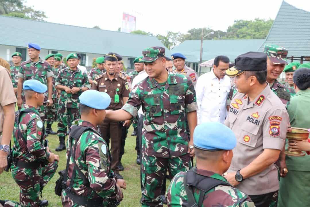 Komandan Lanud (Danlanud) Sutan Sjahrir Hadiri Acara Pengantaran Tugas Satgas Kompi Zeni TNI Kontingen Garuda XX-Q / Monusco TA 2020