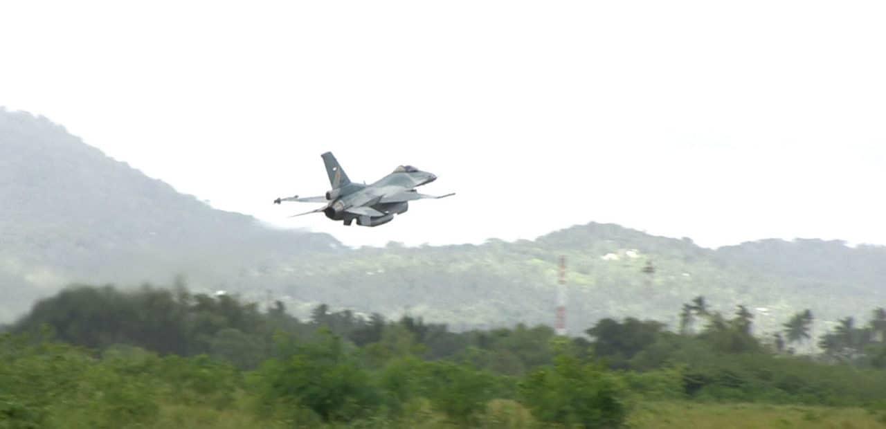 Satu flight Pesawat F16 di Lanud Raden Sadjad