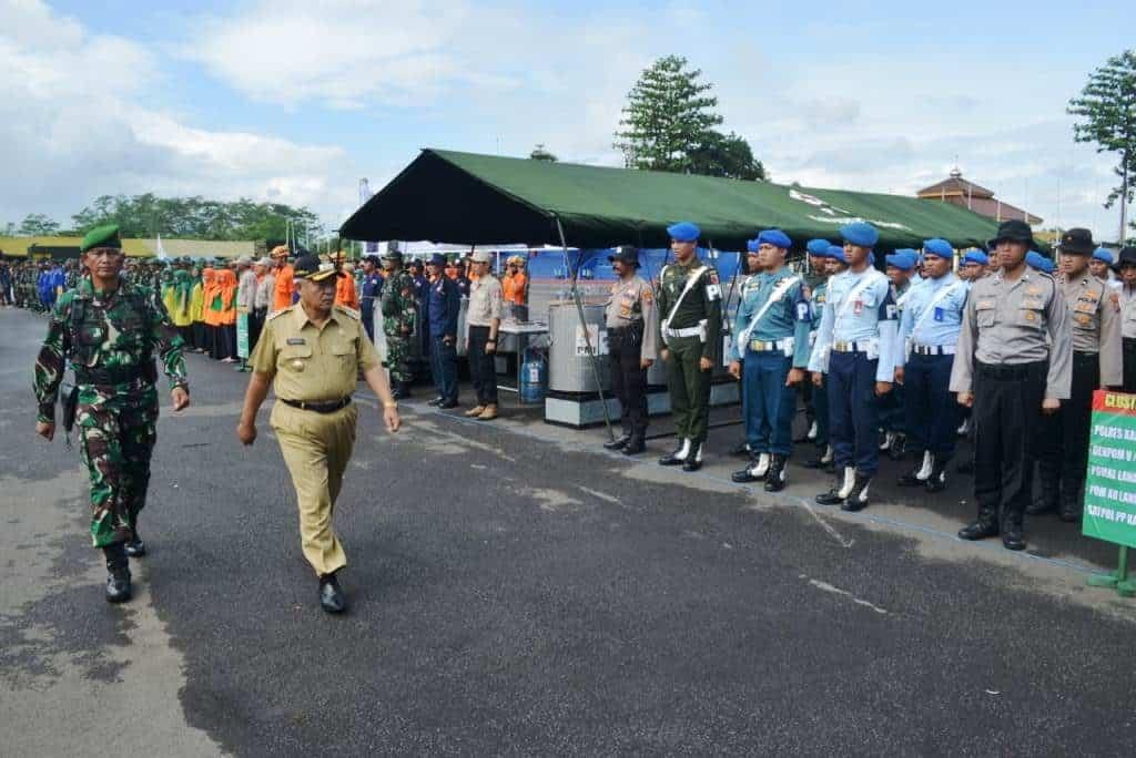 Keterlibatan Lanud Abdulrachman Saleh Dalam Apel Gelar Kesiapan Pasukan Gulben Hydrometeorologi Kabupaten Malang 2020