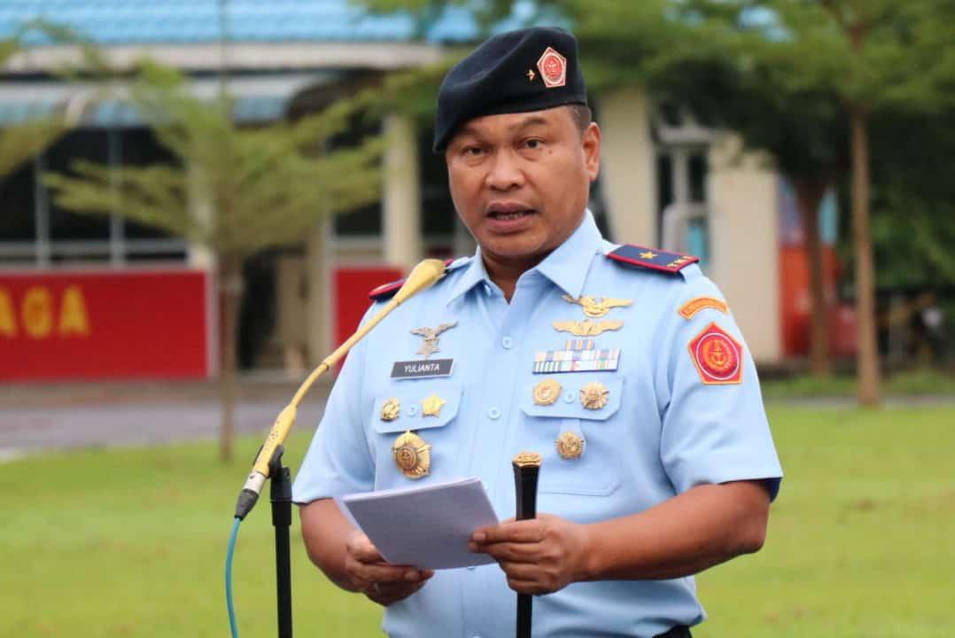 Pangkosekhanudnas II Pimpin Apel Khusus Awal Tahun 2020