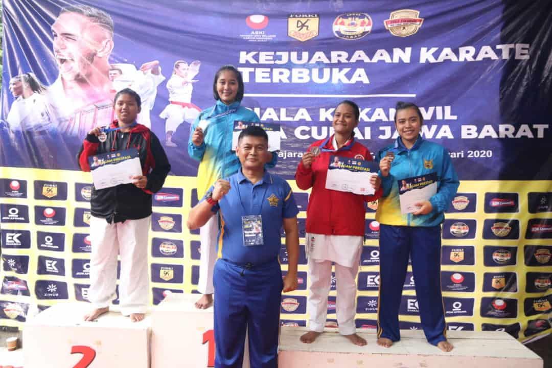 Tim Karate Puspomau Ikuti Kejuaraan Karate Terbuka Piala Kakanwil Bea Cukai Jawa Barat