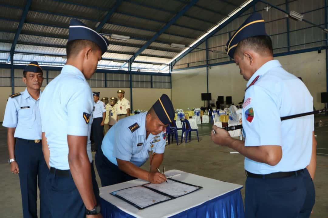 Danlanud SIM Kolonel Pnb Hendro Arief H., S.Sos., Pimpin Serah Terima Jabatan Kadispers