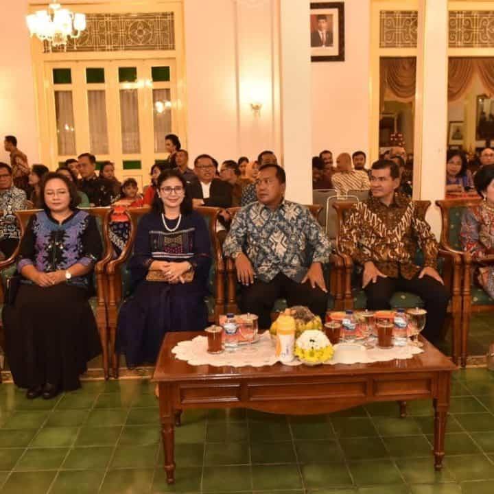 Danlanud Adisutjipto beserta Ibu hadiri perayaan Natal 2019 dan Tahun Baru 2020 Aparatur Negara dan Umat Kristiani DIY