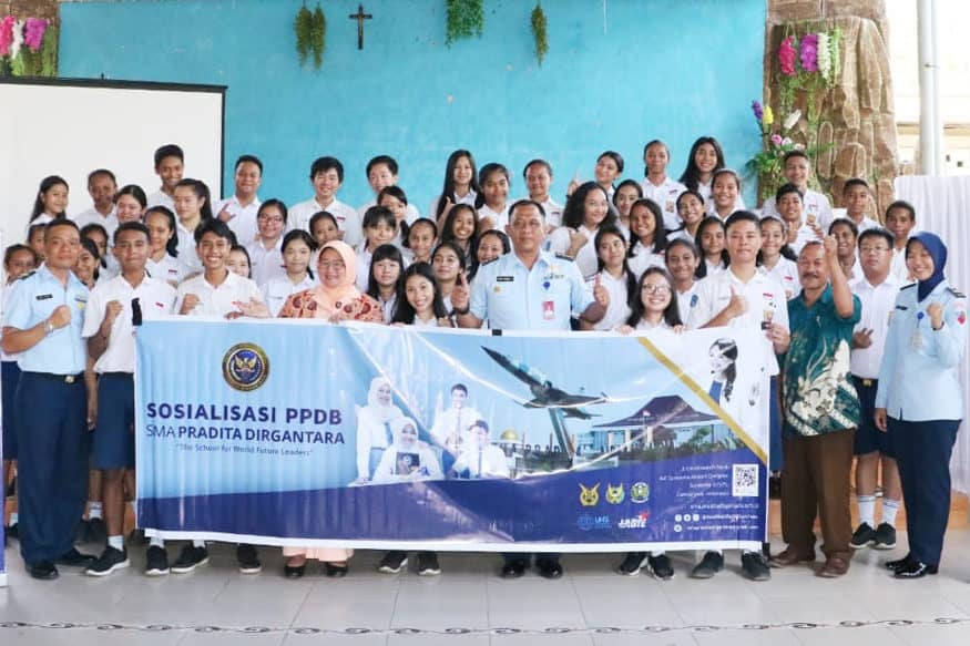 Sosialisasi SMA Pradita Dirgantara di Kupang NTT