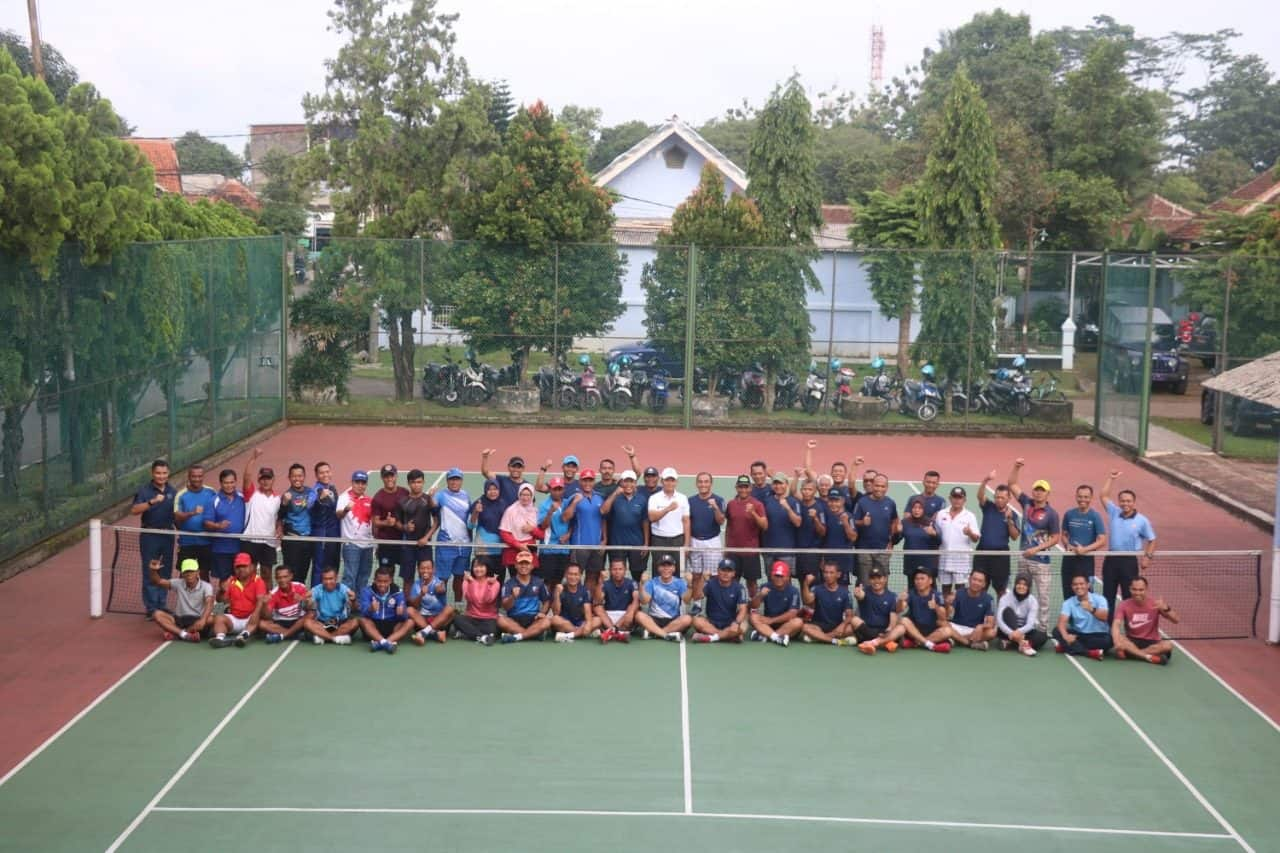 Jalin Silahturahmi, Lanud Ats Gelar Pertandingan Tenis Lapangan