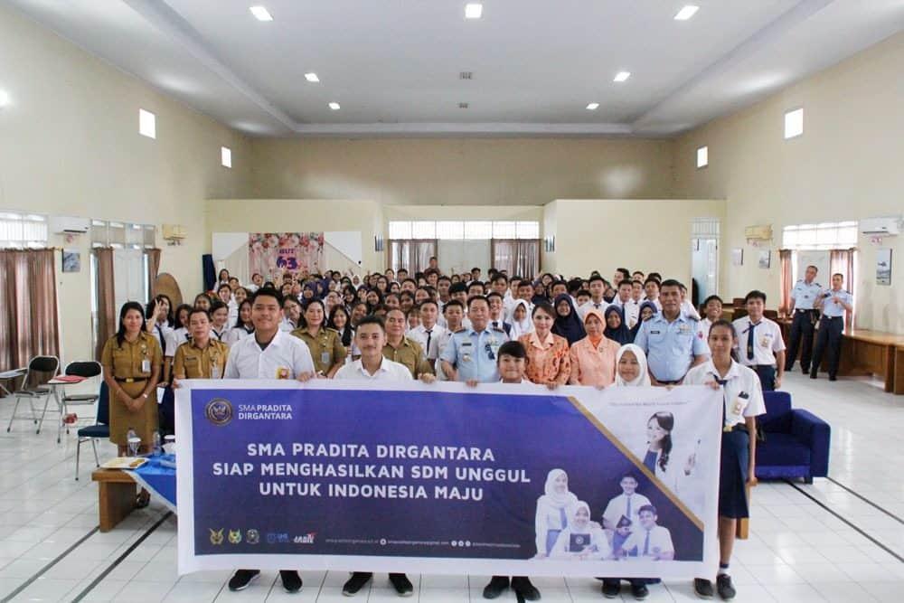 Sosialisasi PPDB SMA Pradita Dirgantara di Lanud Sam Ratulangi