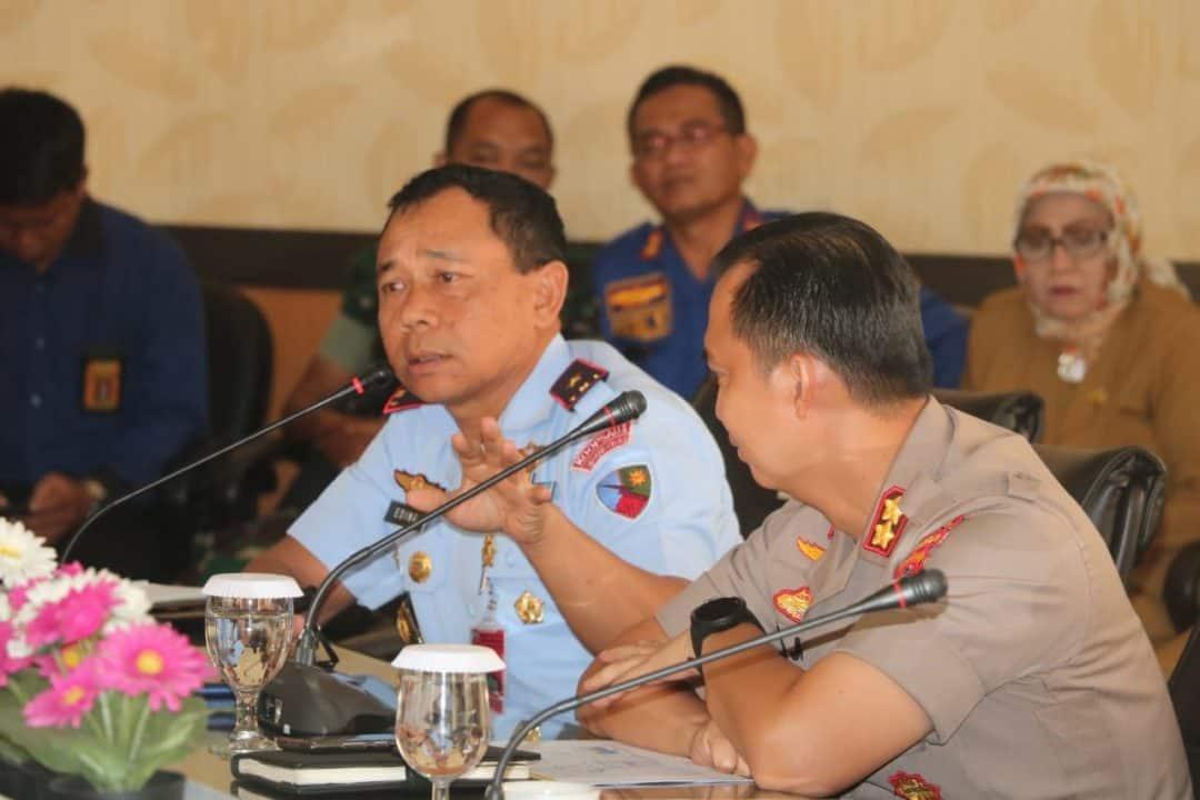 Danlanud Ats Ikuti Rapat Evaluasi Bencana Kabupaten Bogor